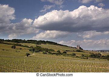 Abbey of St. Hildegard near Ruedesheim in the Rheingau, Hesse, Germany