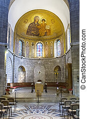 Abbey of the Dormition in Jerusalem .