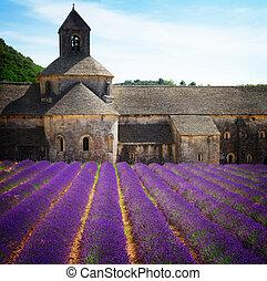 Abbey Senanque and Lavender field, France - Abbey Senanque ...