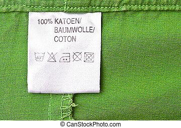 abbigliamento, etichetta