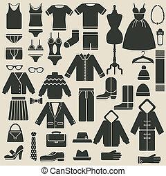 abbigliamento, icone