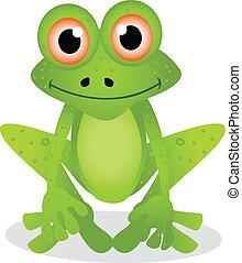 abbildung, 3, karikatur, frosch