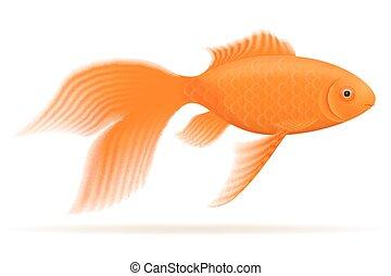 abbildung, aquarium, vektor, fische