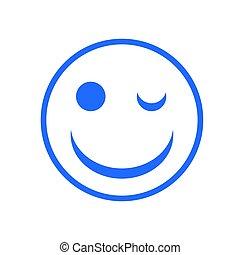 abbildung, gesicht, vektor, lächeln, ikone, design, dein, bestand