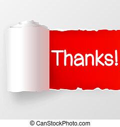 abbildung, hintergrund., vektor, dank, weiß rot, tapeten
