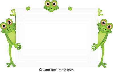 abbildung, karikatur, frosch
