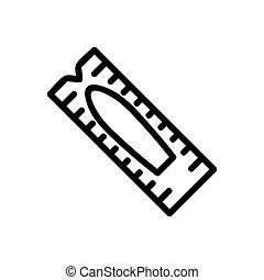 abbildung, kerze, vektor, ikone, grobdarstellung, hämorrhoide, medizin