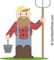 abbildung, landwirt