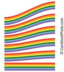abbildung, mit, regenbogen, shape(s), freigestellt, auf, white.