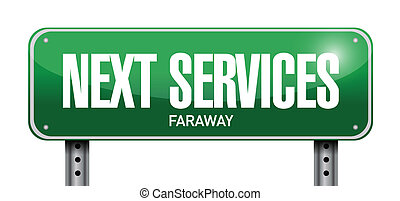 abbildung, nächste, design, dienstleistungen, zeichen, straße