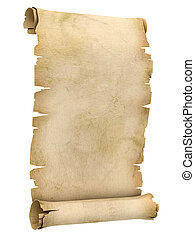 abbildung, pergament, rolle, 3d
