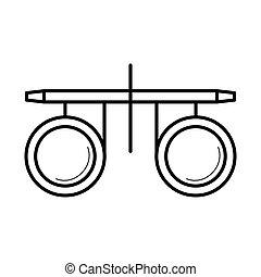 abbildung, pr�fung, vektor, ikone, optiker, vision, brille