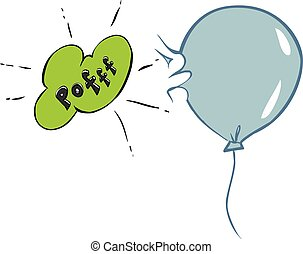 abbildung, vektor, ballon, bersten