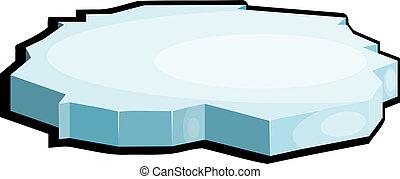 abbildung, von, ice., eps10