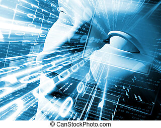 abbildung, von, technologie