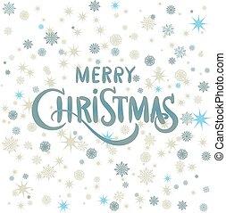 abbildung, weihnachten, vektor, dekoration, snow.