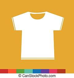 abbildung, zeichen, tshirt, design, leer, ikone