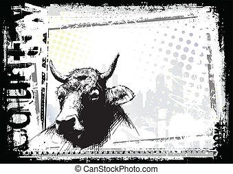 abbozzare, mucca