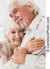abbracciare, coppia