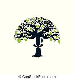 abbraccio, albero