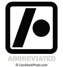 Abbreviated conceptual graphic icon. Design language...