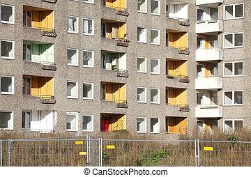 Abbruchreife Wohnblocks