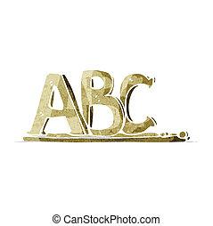 abc, 手紙, 漫画
