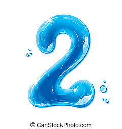 abc, 液体, シリーズ, -, 数, 水, 2