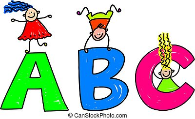 abc kids clipart and stock illustrations 10 875 abc kids vector eps rh canstockphoto com abc clipart letters abc clipart black and white