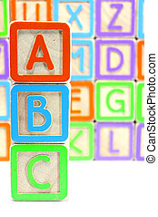 abc alphabet blocks
