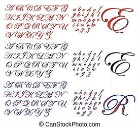 ABC Alphabet design Edwardian combo - Alphabet lettering...