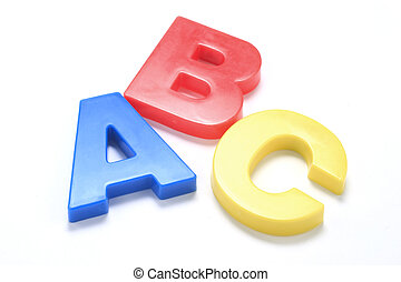 ABC Alphabets on white background with shadow