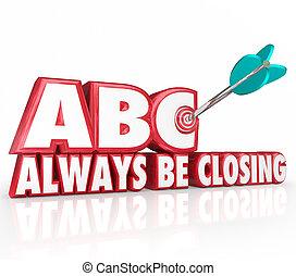 abc, always, ser, encerramento, alvo, 3d, palavras, apontar,...