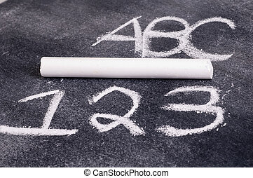 ABC and 123 with Chalk