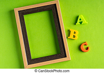 ABC and empty photo frame