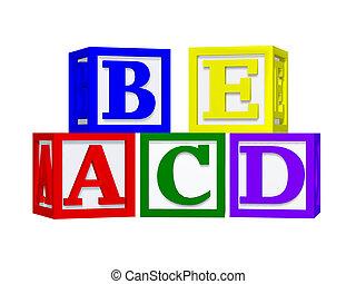 ABC blocks 3d