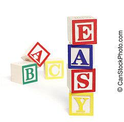 abc, blocs, facile