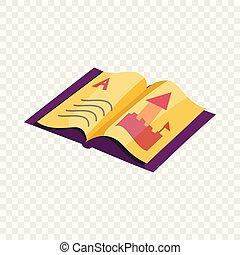 ABC book icon, cartoon style - ABC book icon. Cartoon ...