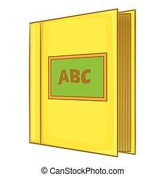 Abc book icon, cartoon style - Abc book icon in cartoon ...