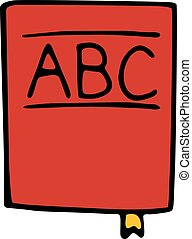 abc book icon isolated on white background