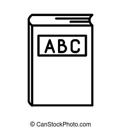 ABC book line icon isolated on white background. Dictionary book sign. Alphabet book icon. Flat design. Vector Illustration