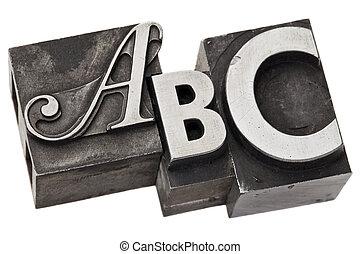 abc, briefe, alphabet, -, drei, zuerst