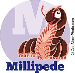 abc, caricatura, millipede
