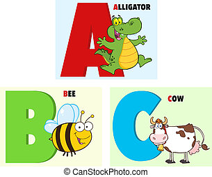 ABC Cartoon Alphabet. Collection