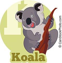 ABC Cartoon Koala - Vector image of the ABC Cartoon Koala