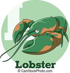 ABC Cartoon Lobster