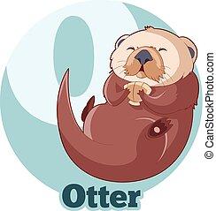 ABC Cartoon Otter - Vector image of the ABC Cartoon Otter