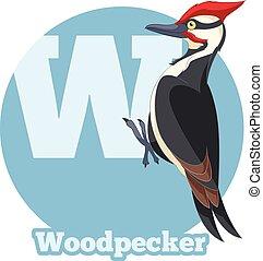 ABC Cartoon Woodpecker