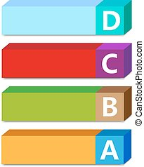 Abc color vector tags