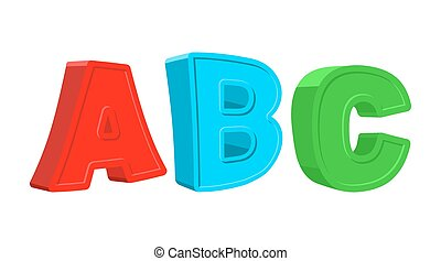 ABC colorful letters. Vector illustration